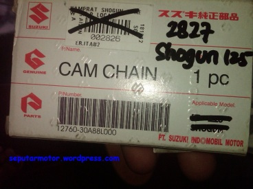 Cam Cain aka rantai kamprat aka rantai timing